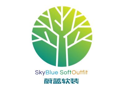 SkyBlue SoftOutfit企业标志设计