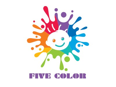 FIVE COLOR门店logo设计